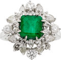 Estate Jewelry:Rings, Emerald, Diamond, White Gold. ...