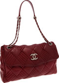 Luxury Accessories:Bags, Chanel Bordeaux Lambskin Leather Large Flap Bag with GunmetalHardware. ...