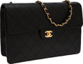 Luxury Accessories:Bags, Chanel Black Caviar Leather Single Flap Bag with Gold Hardware. ...