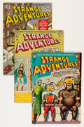 Golden Age (1938-1955):Science Fiction, Strange Adventures #32, 34, and 36 Group - Savannah pedigree (DC,1953) Condition: Average VG+.... (Total: 3 Comic Books)