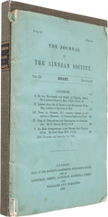 Books:Natural History Books & Prints, Charles Darwin. On the Movements and Habits of Climbing Plants. In The Journal of the Linnean Society, Volume IX...