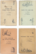 Books:Children's Books, A. A. Milne. First Edition Set of Winnie-the-Pooh. London: Methuen& Co., [1924-1928], including: When We Were Very ... (Total:4 Items)
