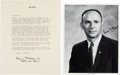 Autographs:Celebrities, Alan Bean Typed Letter and Photo Signed.... (Total: 2 Items)
