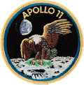 "Explorers:Space Exploration, Apollo 11 Embroidered ""Bio-Garment"" Mission Insignia Crew PatchOriginally from the Personal Collection of Mission Command Mod..."