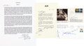 Autographs:Celebrities, Apollo 13-Related: Four Signed Items. ... (Total: 5 Items)