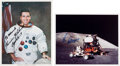 Autographs:Celebrities, Apollo 17 Moonwalkers: Individual Signed Color Photos. ... (Total: 2 Items)