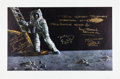 "Autographs:Celebrities, Paul Calle: ""The Great Moment"" Limited Edition Lithograph (26 of 56 AP) Signed by Four Moonwalkers. ..."