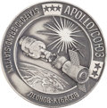 Explorers:Space Exploration, Apollo-Soyuz Test Project Unflown Silver Robbins Medallion from theFamily Collection of Astronaut Alan Bean, Serial Number 22...