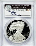 Modern Bullion Coins, 2012-W $1 One-Ounce Silver American Eagle, First Strike PR70 DeepCameo PCGS. Ex: Signature of John M. Mercanti, 12th Chief...