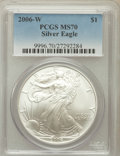 Modern Bullion Coins, 2006-W $1 Silver Eagle MS70 PCGS. PCGS Population (898). NGCCensus: (9713). Numismedia Wsl. Price for problem free NGC/PC...