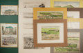 Books:Prints & Leaves, Group of Twelve 19th Century Lithographic Prints of California,Eight with Hand-Coloring. Various sizes. Matted. Very good....
