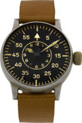 Timepieces:Wristwatch, A. Lange & Söhne Ref. 127-560A-1 Rare World War II German Air Force Watch. ...
