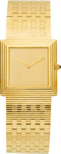 Timepieces:Wristwatch, Boucheron Gent's Fine Gold Wristwatch. ...