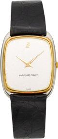 Timepieces:Wristwatch, Audemars Piguet Gent's Ultra-thin Two Tone Gold Wristwatch. ...