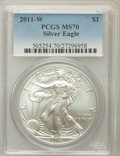 Modern Bullion Coins, 2011-W $1 Silver Eagle MS70 PCGS. PCGS Population (1356). NGCCensus: (0)....