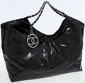 Luxury Accessories:Bags, Chanel Black Patent Leather Cabas Tote Bag. ...