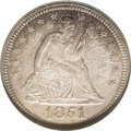 Seated Quarters: , 1851 25C MS64 NGC. An extremely important opportunity is presentedto advanced collectors of Seated Liberty quarter dollars...
