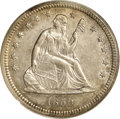 Seated Quarters: , 1859-S 25C AU55 PCGS. Large S mintmark as always. Although it is just a Choice AU example, this piece is tied for the f...