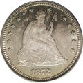 Seated Quarters: , 1872 25C MS64 PCGS. An extremely important opportunity as this isan especially important date. Although 182,000 of these w...