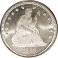 Seated Quarters: , 1880 25C MS66 PCGS. This low-mintage issue had a total businessstrike production of 13,600 coins and many still exist with...