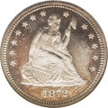 Proof Seated Quarters: , 1872 25C PR66 Cameo NGC. This is an extremely important opportunityfor the date collector, as Gem business strikes of this...
