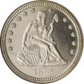 Proof Seated Quarters: , 1885 25C PR65 Cameo NGC. A powerful strike on the design elementscombines with their frostiness to yield stunning contrast...