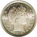 Barber Quarters: , 1898 25C MS67 NGC. Dazzling cartwheel luster and a razor-sharpstrike only begin to describe the assets of this gorgeously ...