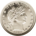 Proof Barber Quarters: , 1903 25C PR67 Cameo NGC. This brilliant Superb Gem features radiant, intricate devices and essentially flawless fields. Whi...