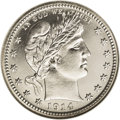 Proof Barber Quarters: , 1914 25C PR67 NGC. The 1914 proof quarter is distinctive because of its low mintage of only 380 pieces. This piece is surel...