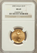 Modern Bullion Coins: , 2000 G$10 Quarter-Ounce Gold Eagle MS69 NGC. NGC Census:(4703/321). PCGS Population (2334/3). Numismedia Wsl. Price forp...
