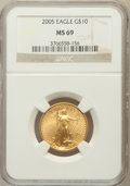 Modern Bullion Coins, 2005 G$10 Quarter-Ounce Gold MS69 NGC. NGC Census: (0/0). PCGSPopulation (6795/177). Numismedia Wsl. Price for problem fr...