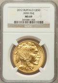 Modern Bullion Coins, 2012 G$50 One-Ounce Gold American Buffalo, MS69 NGC. .9999 Fine.NGC Census: (1299/2540). PCGS Population (1448/2771). Num...