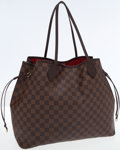 Luxury Accessories:Bags, Louis Vuitton Damier Ebene Canvas Neverfull GM Tote Bag. ...