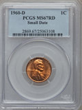 Lincoln Cents, 1960-D 1C Small Date MS67 Red PCGS....