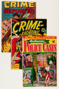 Golden Age (1938-1955):Crime, Comic Books - Assorted Golden Age Crime Comics Group (Various Publishers, 1950s) Condition: Average VG-.... (Total: 9 Comic Books)