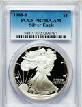 Modern Bullion Coins: , 1988-S $1 Silver Eagle PR70 Deep Cameo PCGS. PCGS Population (382).NGC Census: (591). Mintage: 557,370. Numismedia Wsl. Pr...