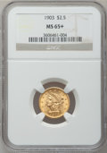 Liberty Quarter Eagles, 1903 $2 1/2 MS65+ NGC....