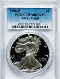 Modern Bullion Coins: , 1998-P $1 Silver Eagle PR70 Deep Cameo PCGS. PCGS Population (920).NGC Census: (1035). Numismedia Wsl. Price for problem ...