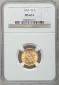 Liberty Quarter Eagles, 1902 $2 1/2 MS65+ NGC....