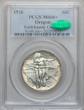 Commemorative Silver: , 1926 50C Oregon MS66+ PCGS. CAC. PCGS Population (413/69). NGCCensus: (328/59). Mintage: 47,955. Numismedia Wsl. Price for...