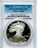 Modern Bullion Coins: , 1987-S $1 Silver Eagle PR70 Deep Cameo PCGS. PCGS Population (348).NGC Census: (424). Mintage: 904,732. Numismedia Wsl. Pr...