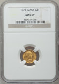 Commemorative Gold, 1922 G$1 Grant No Star MS63+ NGC....