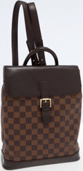 Luxury Accessories:Bags, Louis Vuitton Damier Ebene Canvas Soho Backpack Bag. ...