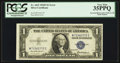 "Error Notes:Major Errors, Inverted ""M"" Prefix Letter Fr. 1615 $1 1935F Silver Certificate.PCGS Very Fine 35PPQ.. ..."