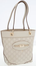 Luxury Accessories:Bags, Gucci Stone Guccissima Embossed Monogram Leather Bucket Tote Bag....