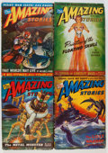 Pulps:Science Fiction, Amazing Stories Box Lot (Ziff-Davis, 1943-45) Condition: AverageVG....