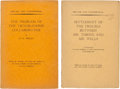 Books:Literature 1900-up, H. G. Wells. The Problem of the Troublesome Collaborator.[N.p., privately printed, 1930]. First edition, one ... (Total: 2Items)
