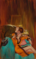 Paintings, AL BRULE (American, 20th Century). Sex is a Woman, paperback cover. Oil on canvas laid on board. 24.5 x 15.5 in. (image)...