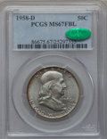 Franklin Half Dollars, 1958-D 50C MS67 Full Bell Lines PCGS. CAC....