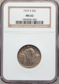 Standing Liberty Quarters, 1919-S 25C MS62 NGC....